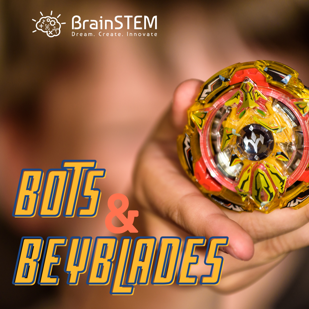 Boy holding beyblade spin top toy